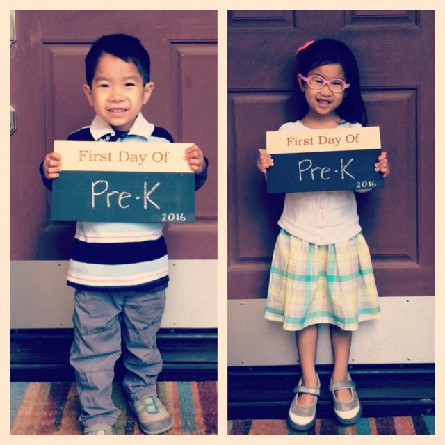 First day of PreK photos up on the blog todayhellip